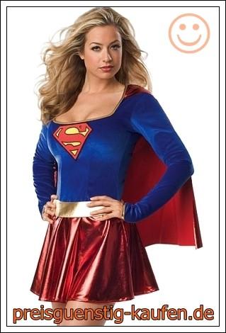 Supergirl Superwoman Superman Karnevalkostüm Fasching Fasnachtskostüm 2020