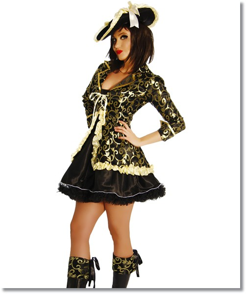 Piratenkostüm 5-teilig - Fasnachtskostüm Pirat Damen