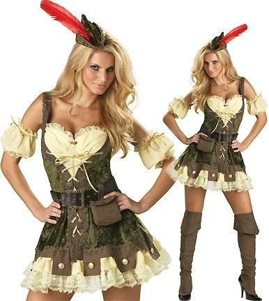 Robin Hood Kostüm 7-teiliges Faschingkostüm