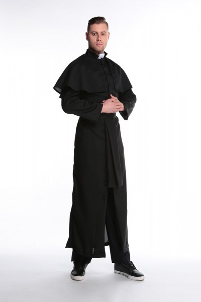 Priester Pfarrer Mönch Pfaffe - extravagantes Priesterkostüm, Gr. M