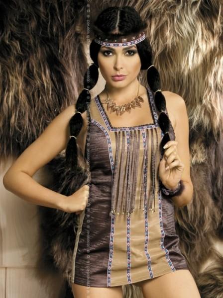 Indianer Kostüm Pocahontas 5-teilig sexy Indianerin Gr. S/M