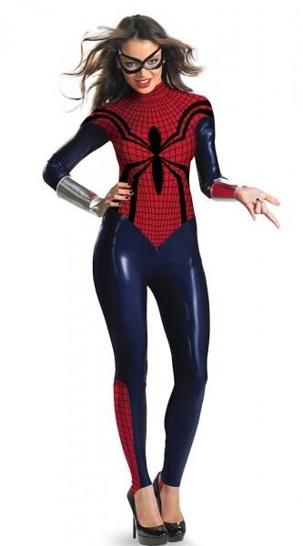 Spinnengirl Spinnenfrau Supergirl Hero Spidergirl Kostüm Junggesellinnenabschied