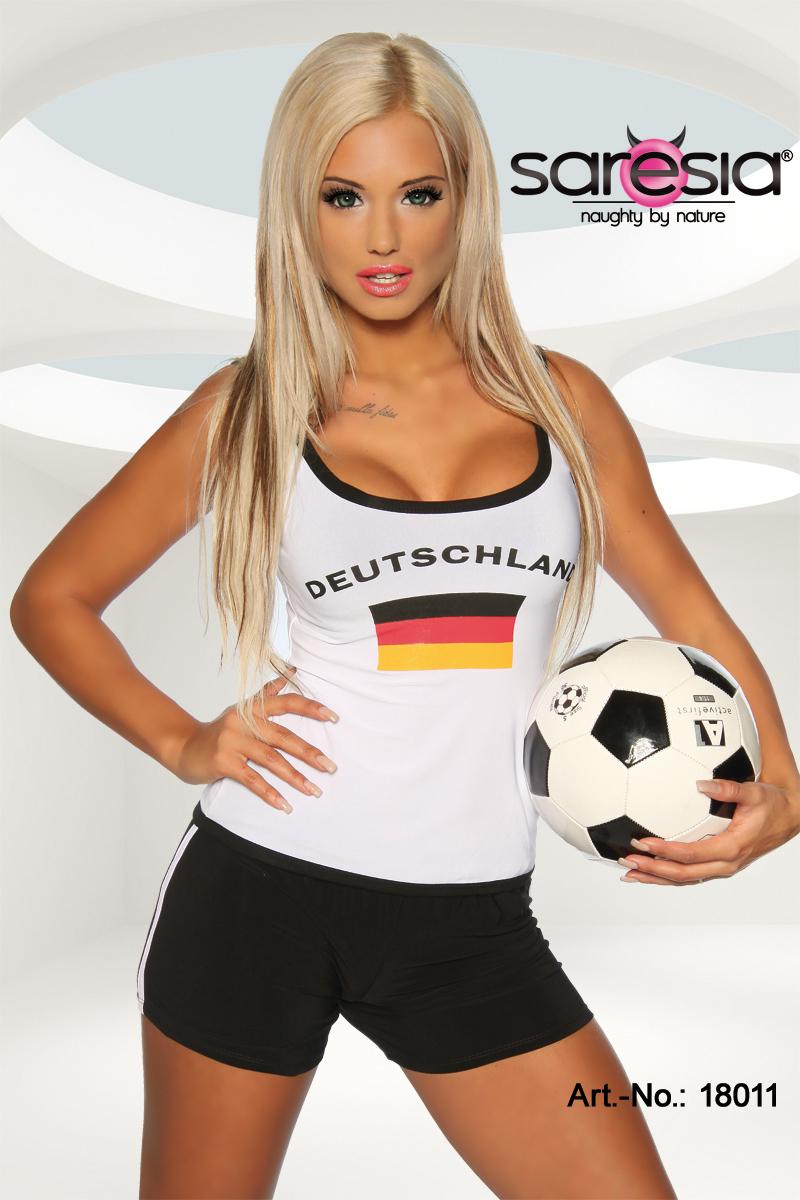 sexy Fussball T-Shirt Trikot Deutschland Damen